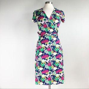 NEW. BODEN FLORAL WRAP DRESS 8